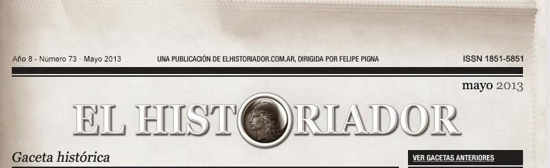 EL HISTORIADOR - Gaceta histórica